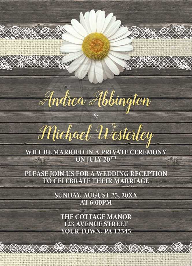 Drink And Be Married Vintage Poster Style Post Wedding Reception Only Invites With