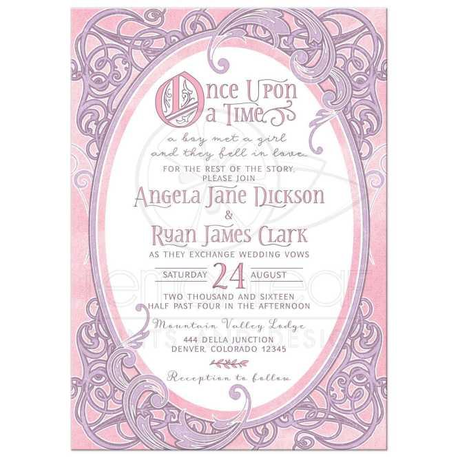 Pink Purple Fairy Tale Wedding