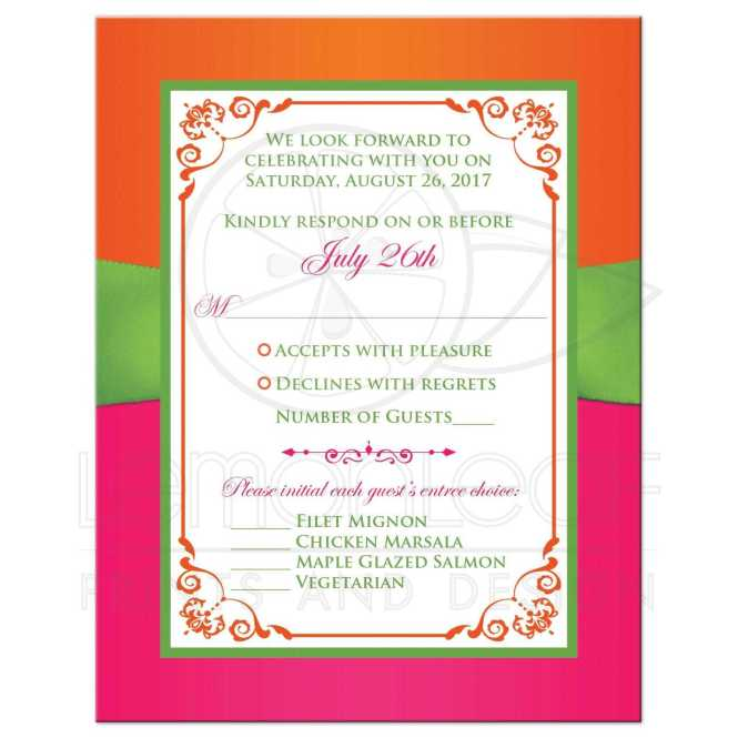 Lime Green And White Wedding Invitation With Ribbon Glitter A