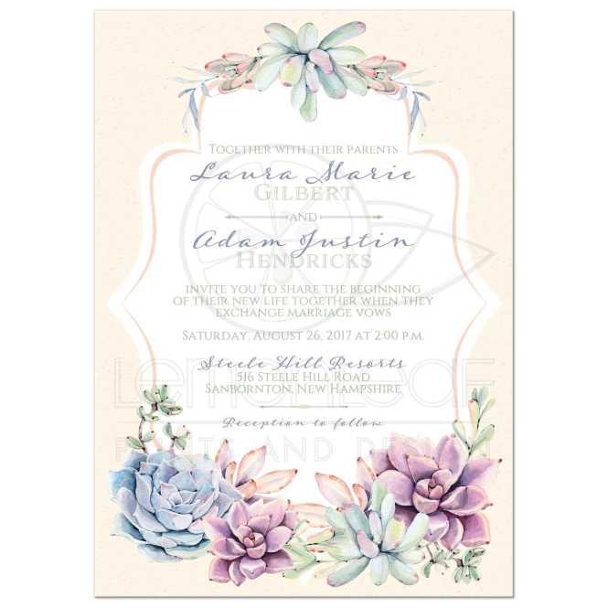 Pastel Wedding Invitation Watercolor