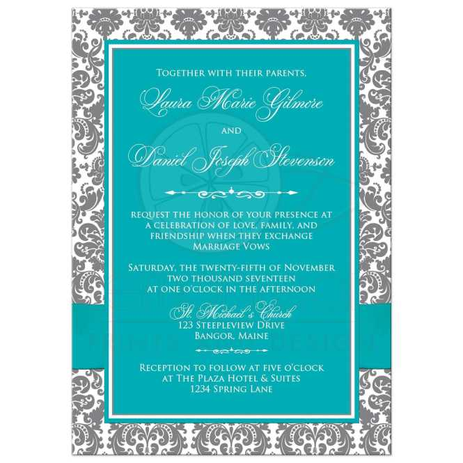 Watercolour Wedding Invitation Stock Images Royalty