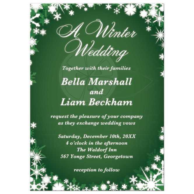 A Winter Wedding Invitation Green
