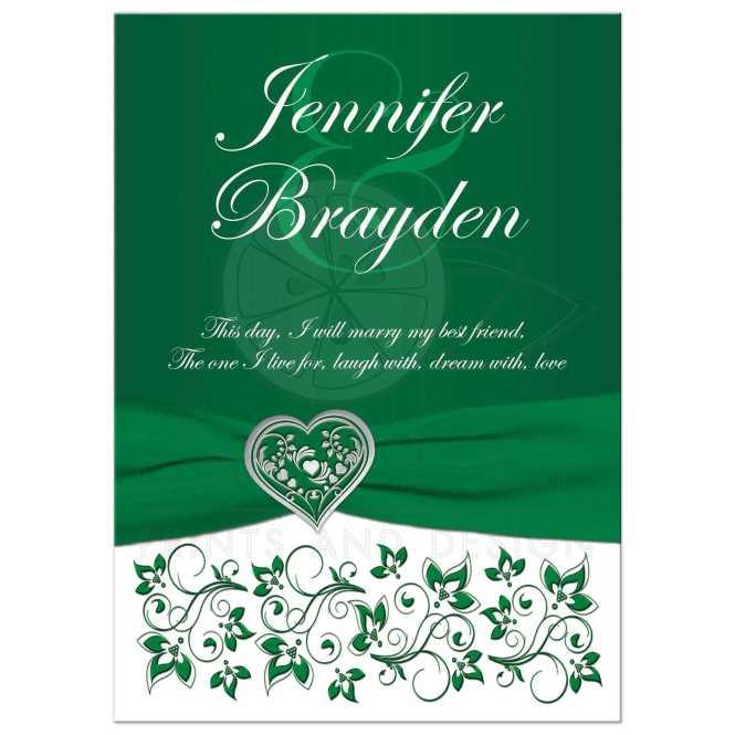 Emerald Green Heart Of Love Wedding