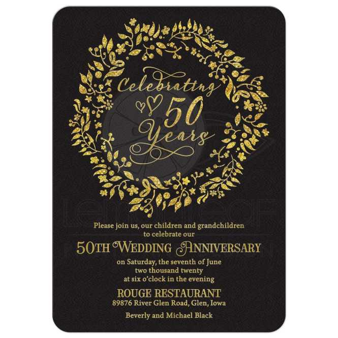 50th Wedding Anniversary Invitation