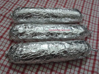 kimbap dibungkus aluminium foil