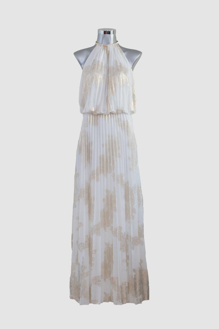 Cortos Dorado Blanco Con Populares Largo Vestidos Vestido Ljcfk1