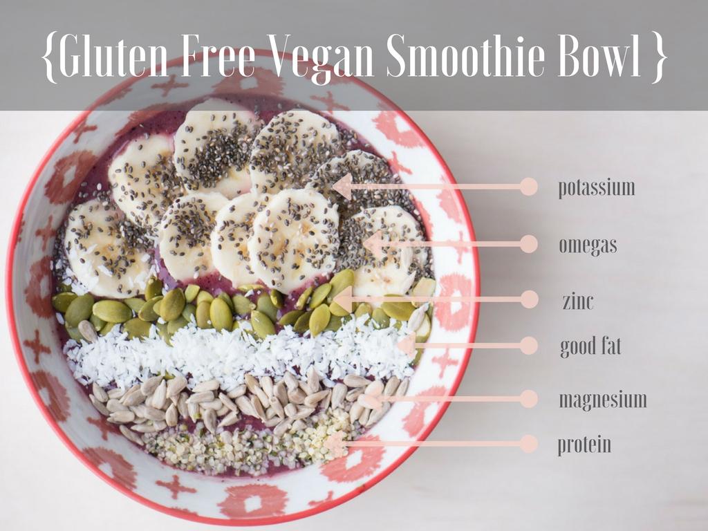 Gluten Free Vegan Smoothie Bowl Recipe