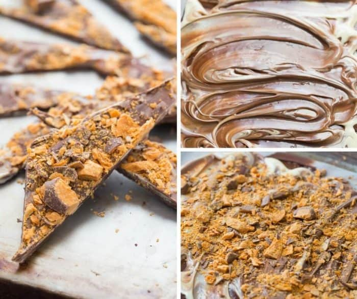 Grab those butterfingers and get to work! This chocolate candy bark is an easy treat that combines your favorite flavors!