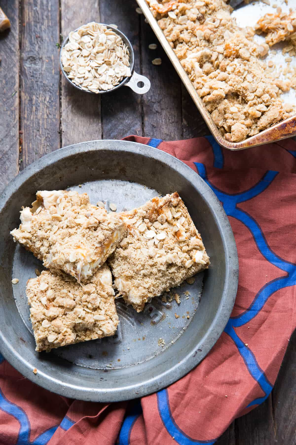 These oatmeal caramel bars are divine!