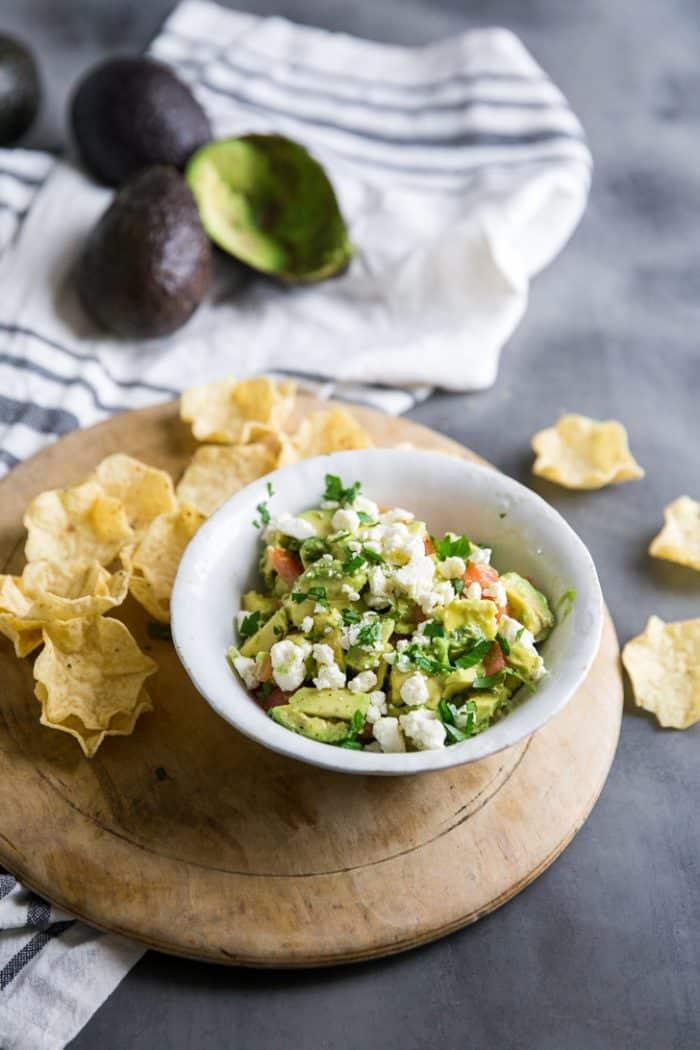 Avocado Salsa on a platter