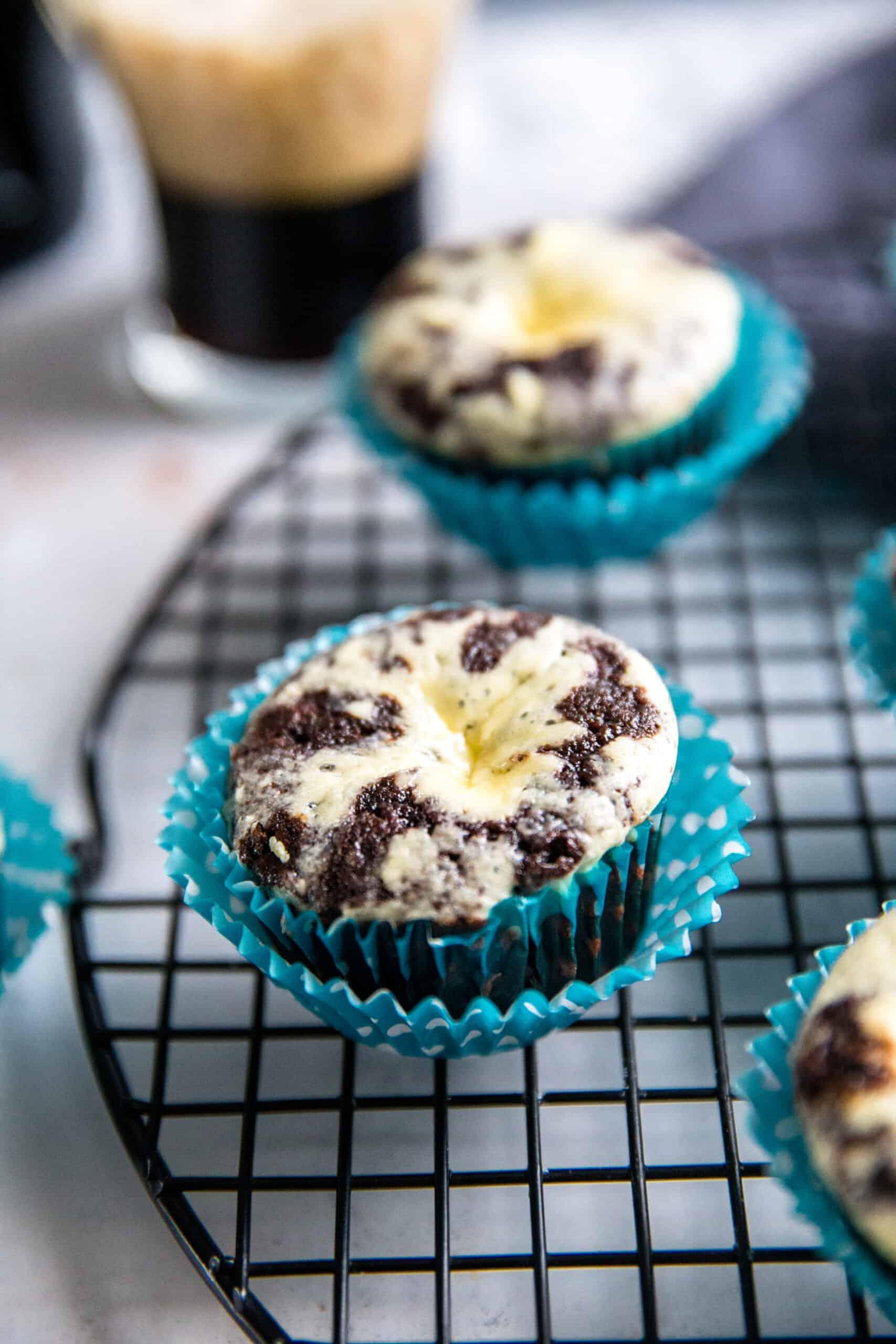 one black bottom cupcake close up