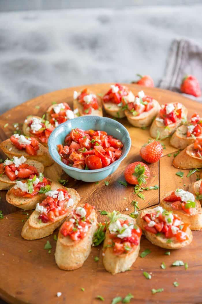 Bruschetta recipe with strawbarries