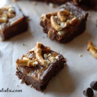 Nutella Caramel Pretzel Fudge