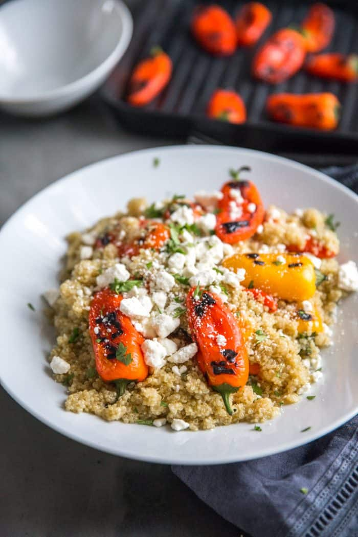 Roasted peppers with quinoa
