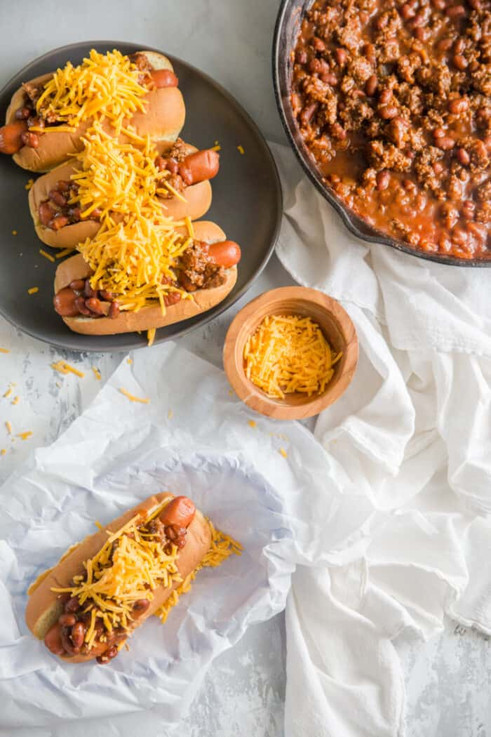 chili with chili dogs on the side