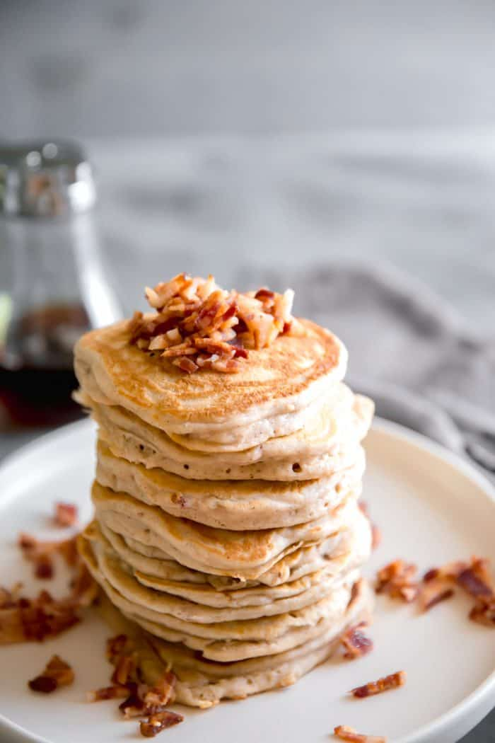 easy pancakes on a beige plate