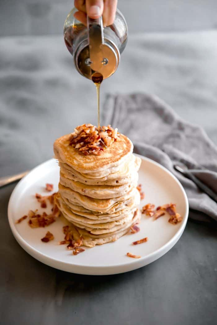 easy pancakes on a plate