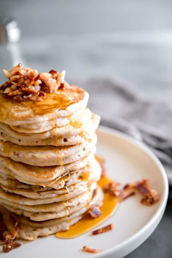 easy pancakes with bacon