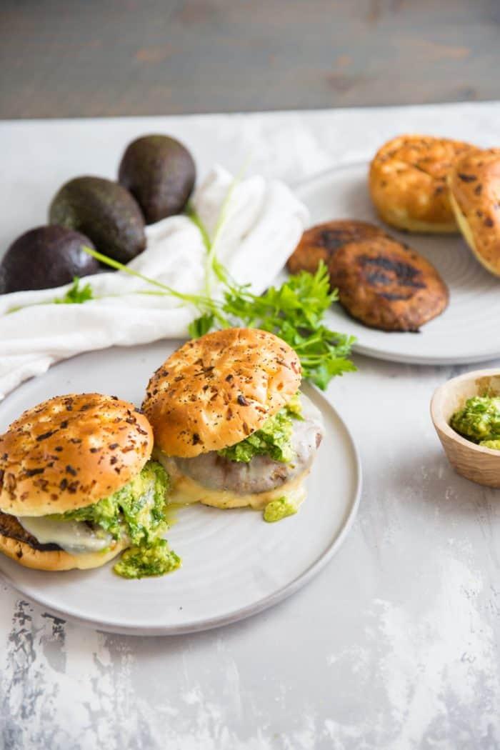 portobello mushroom with chimichurri sauce