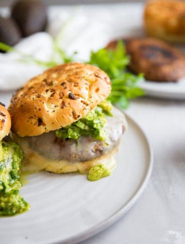 portobello mushroom burger with cheese