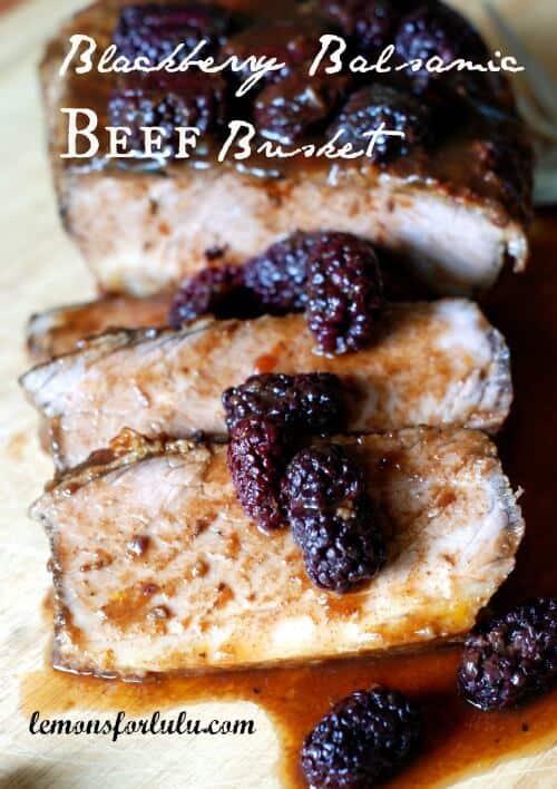Beef brisket with Balsamic Blackberry Sauce