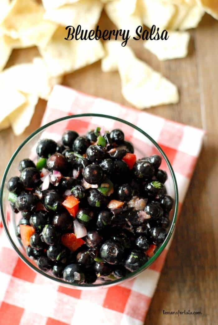 Lots of fresh flavors combine to make this summertime blueberry salsa! www.lemonsforlulu.com