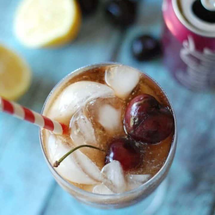 Cherry Coke with a little vanilla, a little lemon and a touch of cream! www.lemonsforlulu.com
