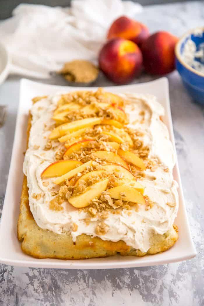 whole peach cake