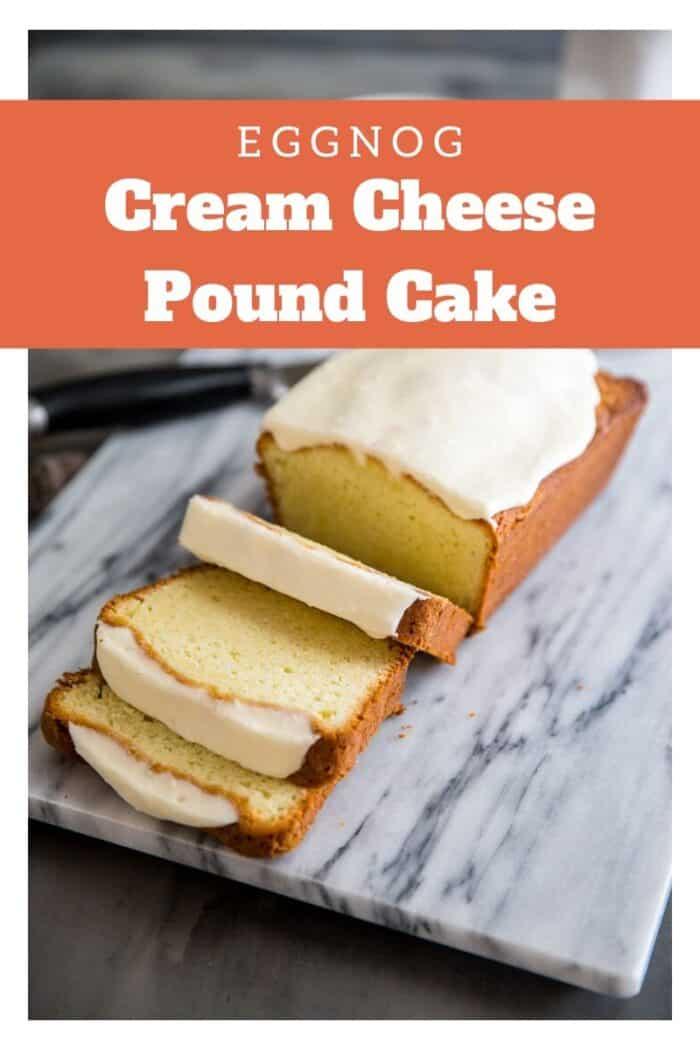 Eggnog pound cake title image