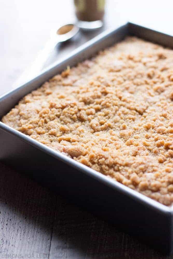 Maple Ginger Coffee Cake | lemonsforlulu.com