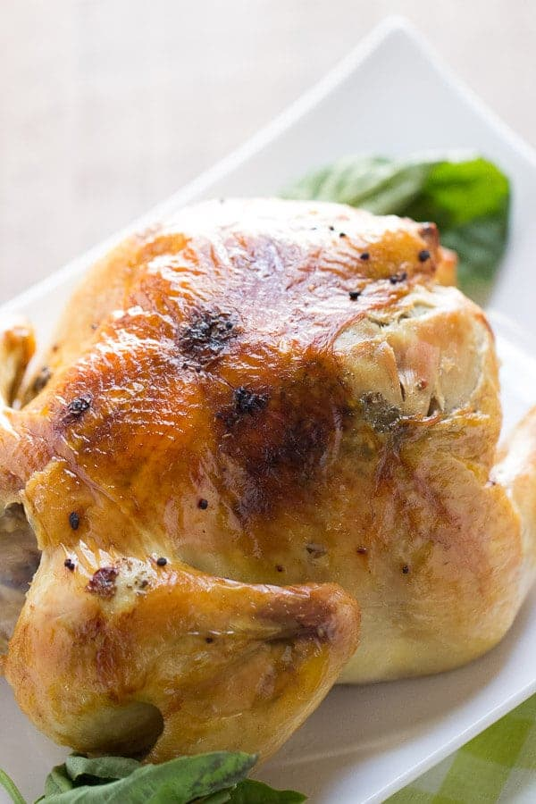 An easy roasted chicken recipe for any cook and for any night of the week! The best part is with roasted chicken you can cook once, eat twice! lemonsforlulu.com