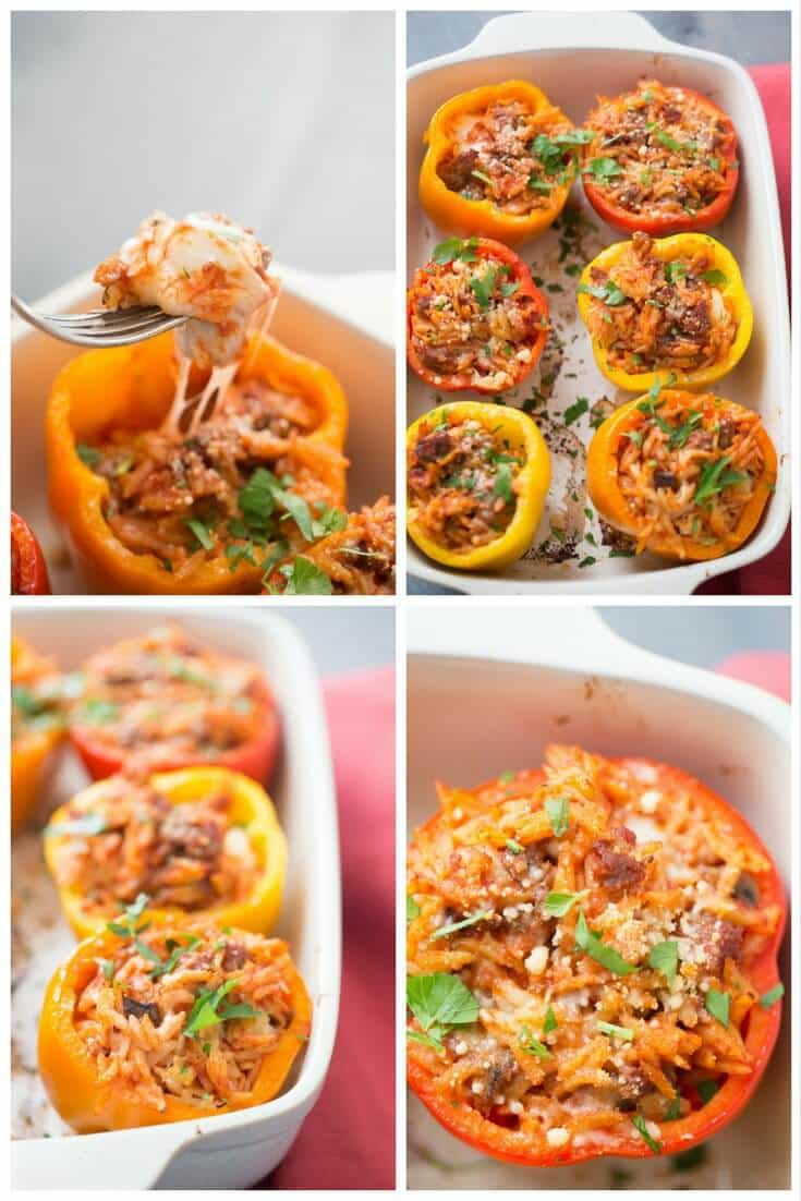 These Italian Stuffed Peppers are going to get your family to the table in a hurry! They are filled with goodness and are a snap to prepare!