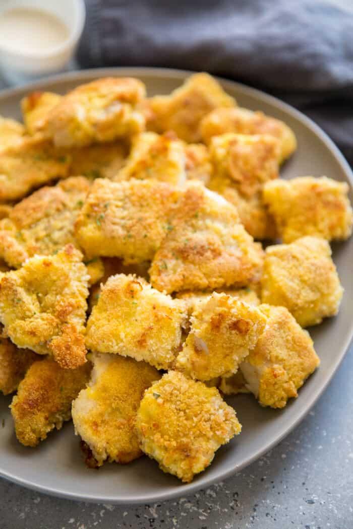 baked catfish bites breaded