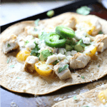 Chicken marinated with tequila and lime juices makes an exquisit topping for an easy flatbread pizza! lemonsforlulu.com