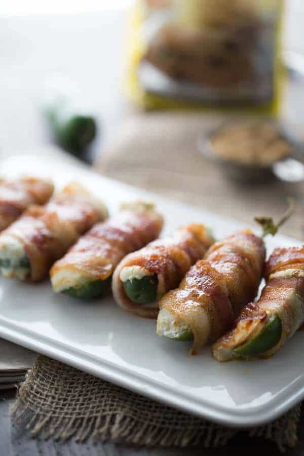 arranged stuffed jalapenos