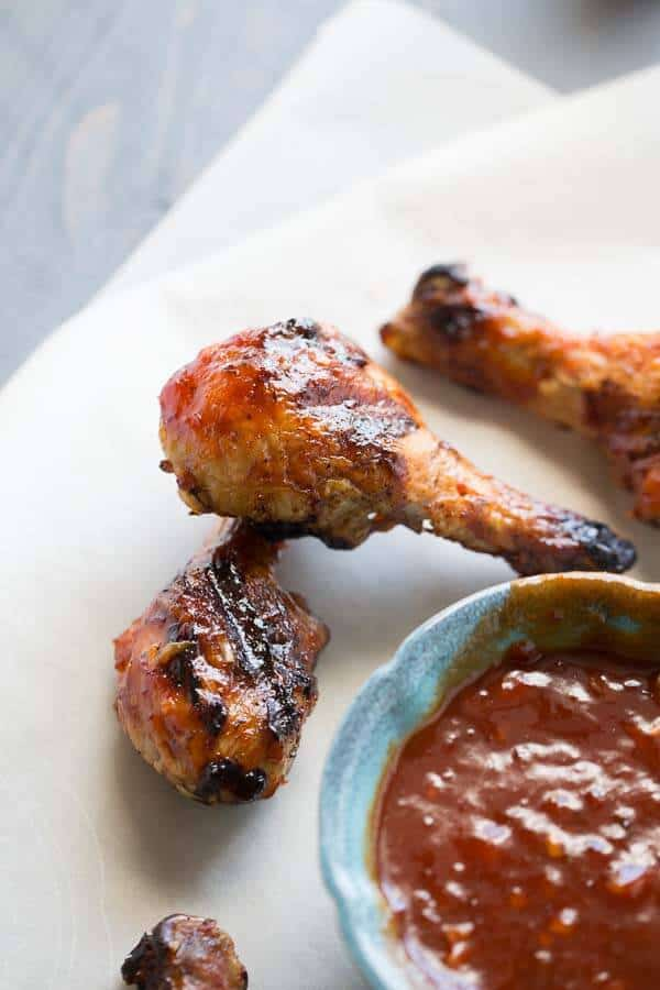 BBQ grilled drumsticks are easy to prepare but taste out of this world delicious! lemonsforlulu.com