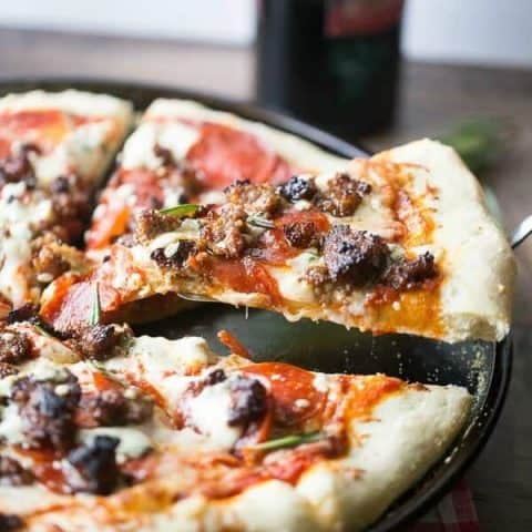 Italian Sausage and Blue Cheese Pizza