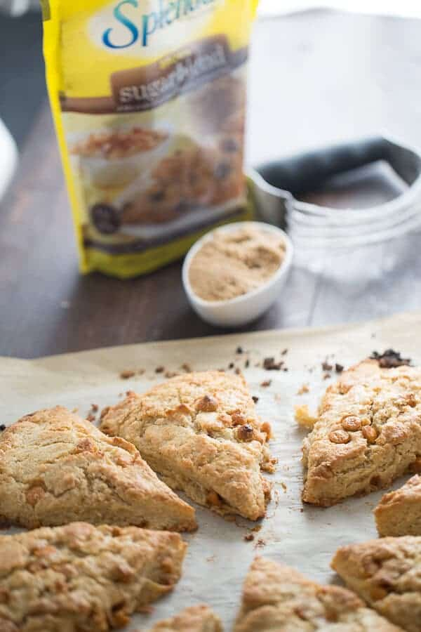 Maple syrup subtly infused these simple scones that are full of butterscotch chips. A creamy maple glaze is drizzled over the top which turns these scones into something spectacular! lemonsforlulu.com