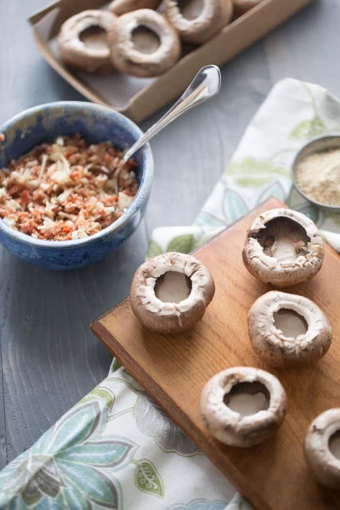 A simple stuffed mushroom recipe makes any party better! lemonsforlulu.com