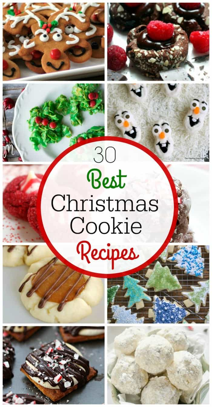 30 of the Best Christmas Cookie Recipes in one spot! These cookies are fun, delicious and will be loved by all! lemonsforlulu.com