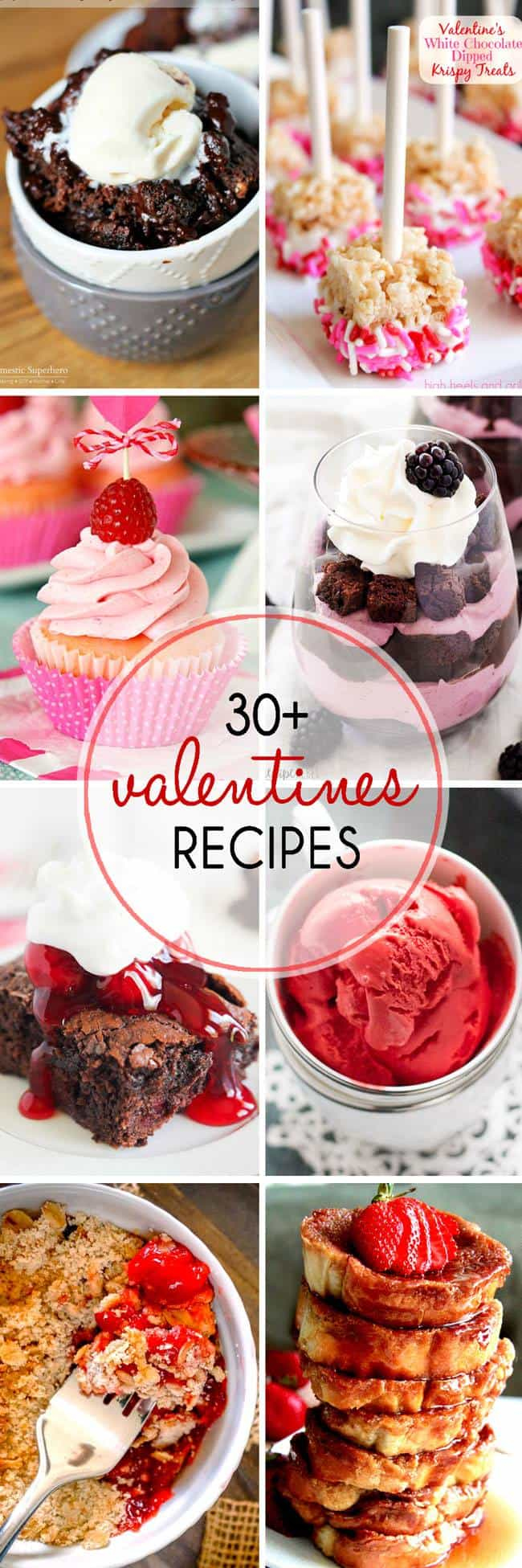 Over 30 Valentine's Day recipes that will make you swoon!  lemonsforlulu.com