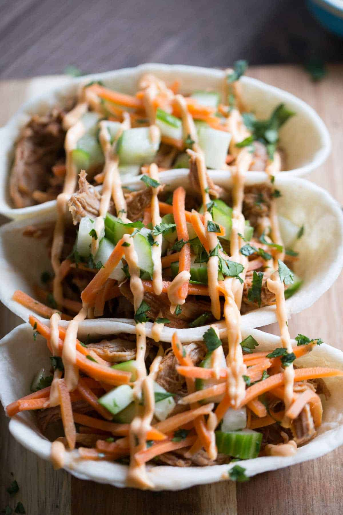 Asian BBQ Pork Taco Boats {Lemons for Lulu}