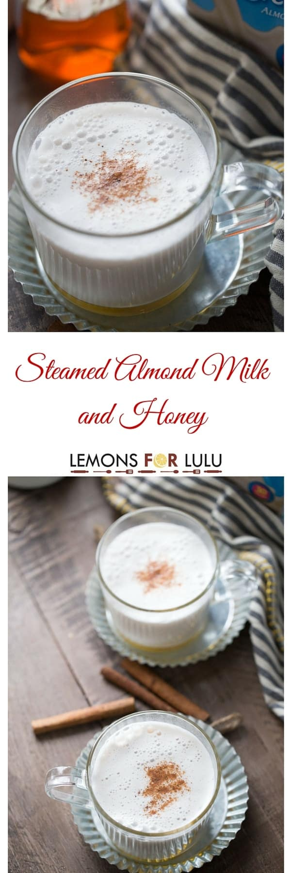 Nothing is quite as comforting as a mug of warm milk. This simple recipe is made with cinnamon infused almond milk that is poured over honey! This beverage is sweet, calming and delicious! lemonsforlulu.com