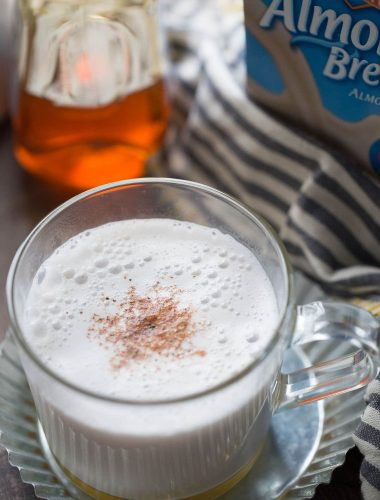 Almond milk is steamed with cinnamon, frothed and poured of honey! lemonsforlulu.com
