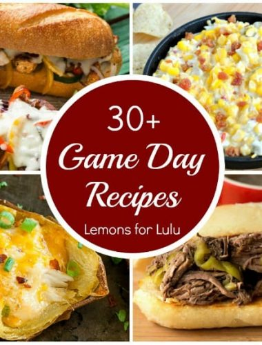 photo collage - over 30 simple game day recipe for your family to enjoy!