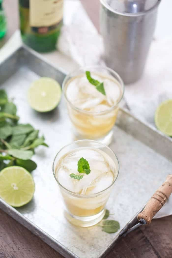 A mint mojito recipe with a little Irish twist!