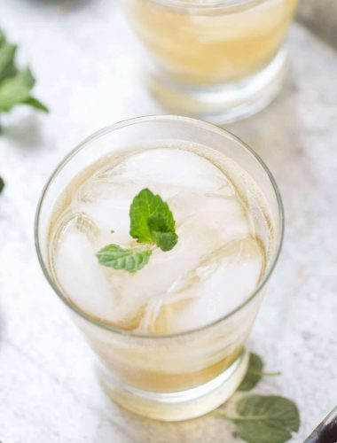 A mint mojito recipe with simple syrup and Irish whiskey; a new classic!