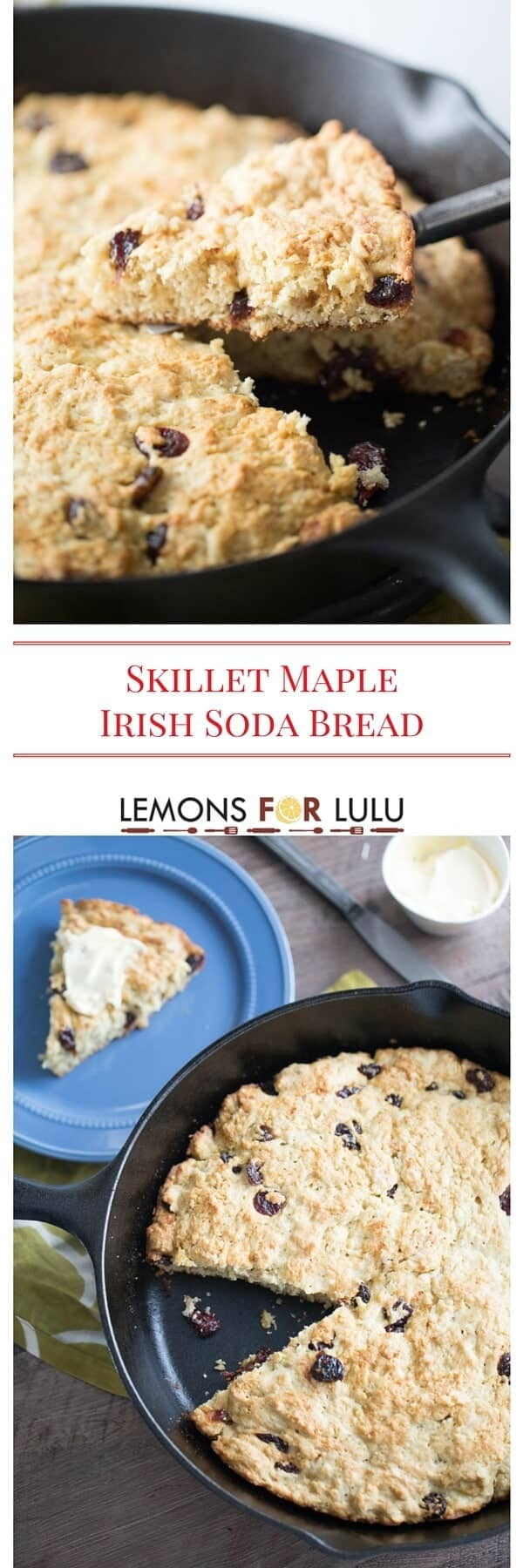 An easy Irish soda bread recipe made sweet with pure maple syrup and dried cherries. This bread recipe is quick and easy and is perfect for breakfast, on the side or as an afternoon snack!