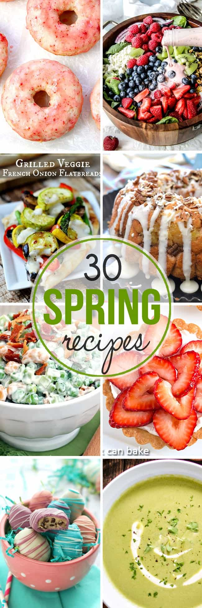 30 Spring Recipes you have to try! From dips, to salads, to soups and desserts this round features the best flavors of spring!