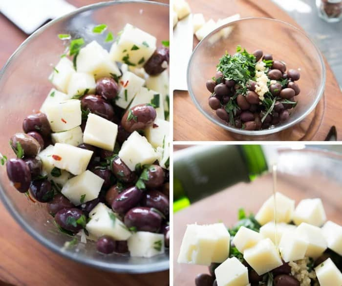 Nutty manchego cheese compliments briny Spanish olives in this simple tapas recipe.